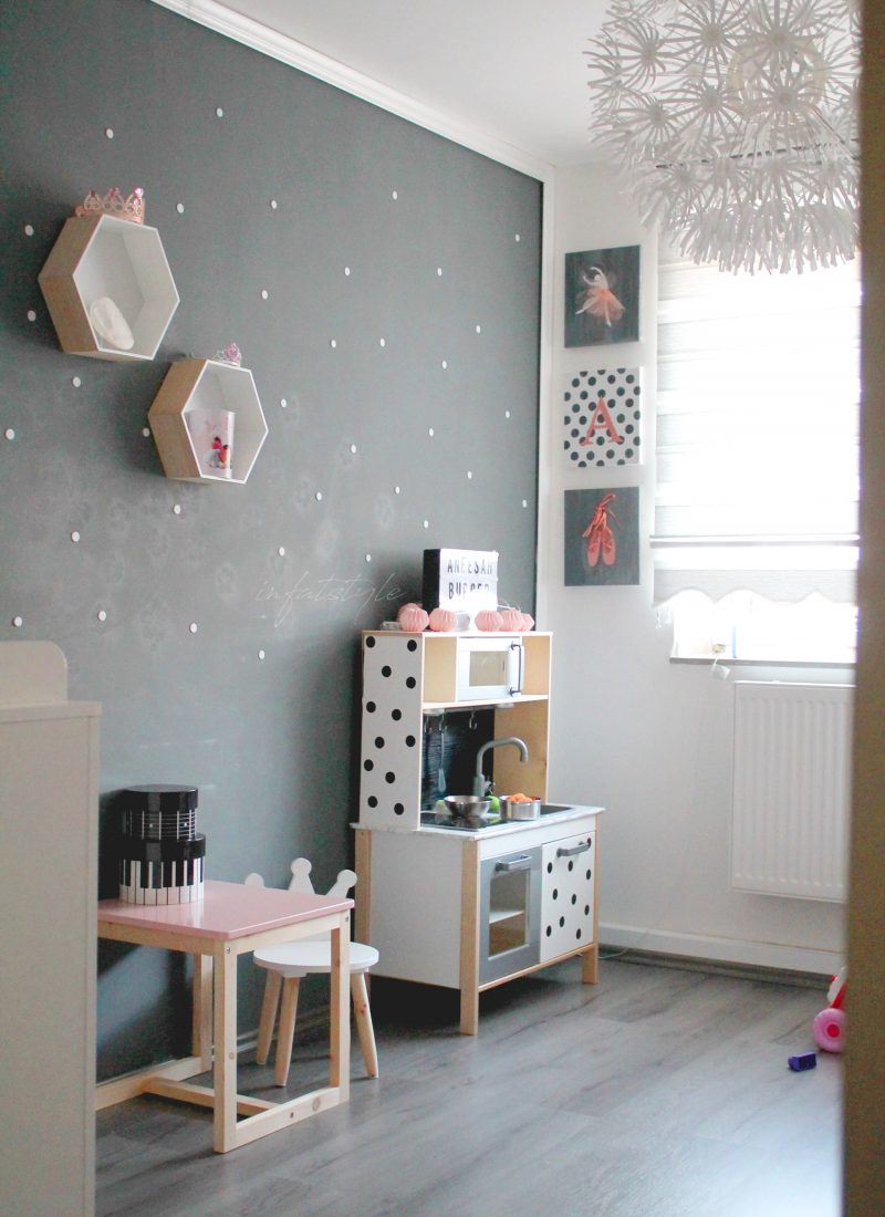 Kinderzimmer – DIY dotted wall
